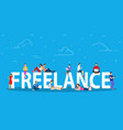 freelance concept remote and distant job vector image vector image