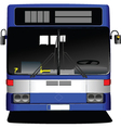 Front view of bus vector image vector image