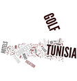 golf holidays in tunisia enjoy a new experiment vector image vector image