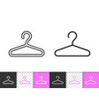 hanger simple fashion black line icon vector image