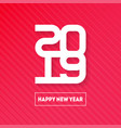happy new year 2019 cover of business diary or vector image