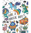 have a magical day card with real magical and vector image vector image
