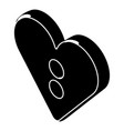 heart clothes button icon simple style vector image vector image