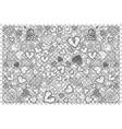 hearts doodle set vector image