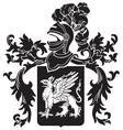 heraldic silhouette No11 vector image vector image