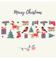 holiday background with different elements vector image vector image