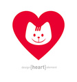 I love my cat icon Isolated On White Background vector image vector image