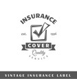 insurance label vector image