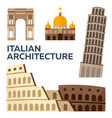 italian architecture modern flat design vector image