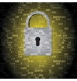 Lock on background with HEX-code vector image vector image