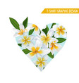 love romantic floral heart spring summer design vector image vector image