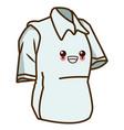 man polo shirt kawaii cartoon vector image vector image
