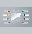 medical infographic icon design infographic health vector image