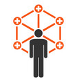 medical network administrator flat icon vector image vector image