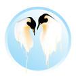 melting penguins global warming thaw friendship vector image