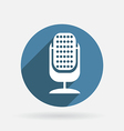 microphone Circle blue icon with shadow vector image vector image