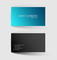 Modern blue minimalistic business card template vector image vector image