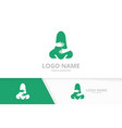 nose and hands logo combination ent clinic vector image