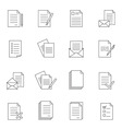 Outline document icon set vector image vector image