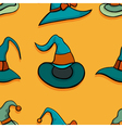 pattern with witch hats vector image