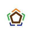 pentagon business finance logo vector image vector image