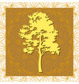 pine tree silhouettes vector image vector image