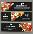 pizza flyers set vector image vector image