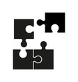 puzzel of black icons good game skill vector image vector image