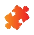 Puzzle piece sign Orange applique isolated vector image vector image
