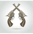 revolver gun weapon element vector image
