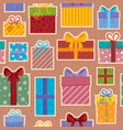 seamless background gift theme 3 vector image vector image