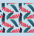 seamless pattern bird of paradise flower floral vector image