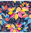 seamless pattern colored leaves and snails vector image vector image