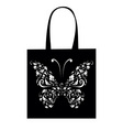shopping bag design vintage butterfly vector image vector image