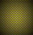 slot grill gold metal background vector image vector image