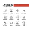 Smart Technology- line design icons set vector image