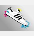 sneaker art vector image