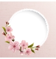 Spring background with pink cherry flowers vector | Price: 1 Credit (USD $1)