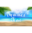 summer time lettering summer time at the beach vector image
