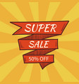 super sale banner retro style vector image vector image