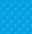 swimming lizard pattern seamless blue vector image vector image
