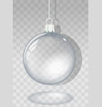 transparent christmas ball vector image vector image