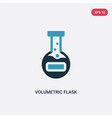 two color volumetric flask icon from science vector image vector image