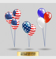 us patriotic balloons colored balloons specially vector image vector image