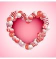 Valentine Day Lollipop vector image vector image