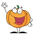 Waving Halloween Pumpkin Character vector image vector image