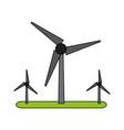 wind turbines vector image vector image