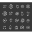 collection of hand drawn mandalas symbols vector image