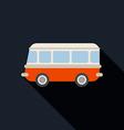 Retro van car icon flat design vector image