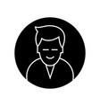 man round avatar icon sign vector image